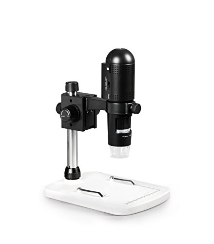 Parco Scientific 1080P Full HD Wi-Fi Digital Microscope with 3MP Image Sensor, 220x Magnification, 6 LED Illumination with Intensity Control, USB, iOS/Android/PC Compatible