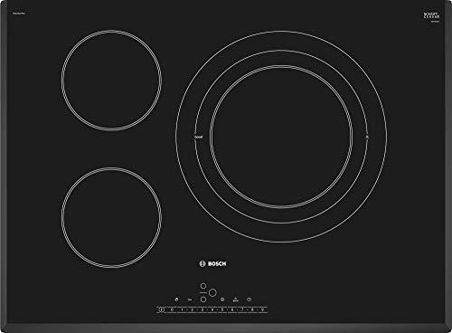 Bosch Serie 6 PKD751FP1E - Placa vitrocerámica, 70 cm, 17 niveles de potencia, 3 zonas de cocción, Dispositivos de seguridad, Color Negro