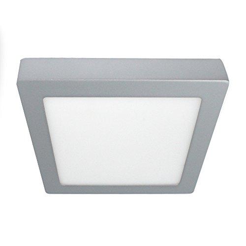 Wonderlamp W-E000062 Downlight LED de superficie cuadrado gris 20W Luz Neutra (4200K), 20 W