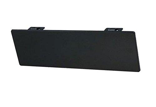 XCarLink Abdeckblende für 1DIN Radio/Navi-Schacht mit Schnappverschluss, Farbe: schwarz