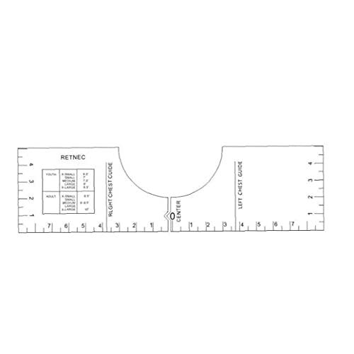 Heerser Vinyl T-shirt Guide Calibration Heerser T-shirt van de hulplijn naar de sublimatie Toestel: T-shirt van 16 Inch, Ruler
