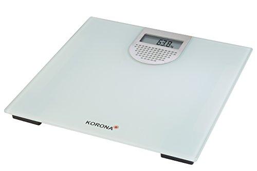 Korona Sonja Báscula Personal electrónica Plaza Gris, Plata - Báscula de baño (Báscula Personal electrónica, 180 kg, 100 g, kg,LB, Plaza, Gris, Plata)