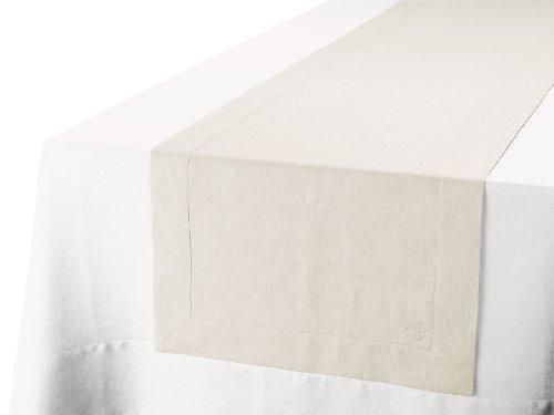 BLANC CERISE Vis-à-vis Ivoire - Lin déperlant - Bicolore, brodé 140 cm