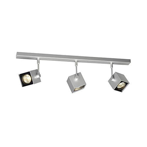 SLV Spot LED ALTRA DICE Orientable et Inclinable   applique et Plafonnier Variable pour Eclairage Intérieur, Spot LED   Projecteur de Plafond, Lampes de Plafond, Lampe Murale   3 Lampes, GU10, E-A++