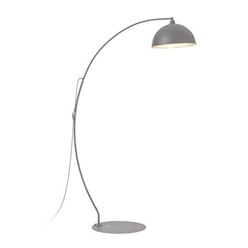 blumfeldt Bixente Lampe, Outdoor-Lampe, Bogenlampe, Stehlampe, Schutzklasse: IP23, wetterfest, runder Lampenschirm, extralanges Netzkabel mit 3,6 m, stabiler Lampenständer aus Metall, schwarz