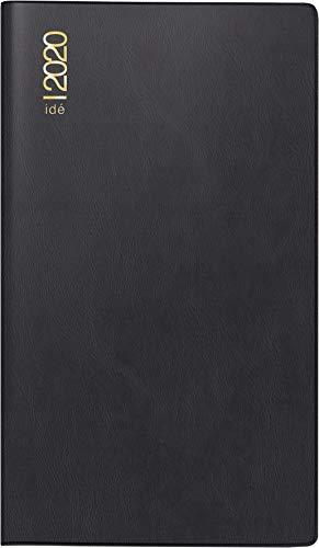 rido/idé 701221290 Taschenkalender/Plankalender TM 17/contacter (2 Seiten = 1 Woche quer, 153 x 87 mm, Kunststoff-Einband, Kalendarium 2020) schwarz