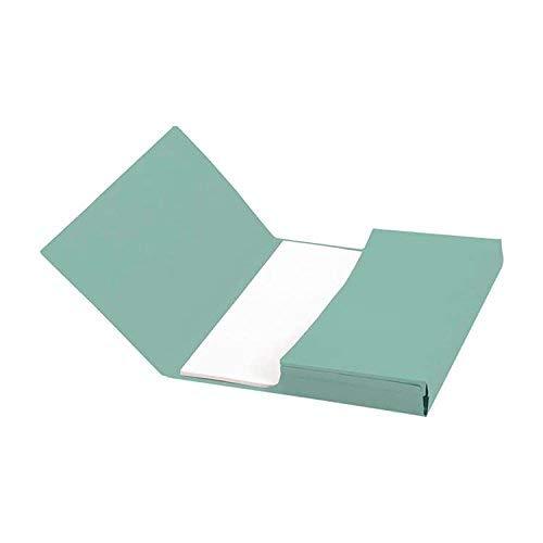 5 Star - Confezione di 50 cartelle porta-documenti a tasca, formato protocollo, capacità 32 mm, 250 g/m², colore: rosso verde