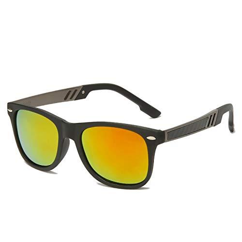 SUIBIAN Gafas de Sol polarizadas clásicas Vintage para Hombre, Gafas de Sol para Conducir, Gafas de Sol con Revestimiento Cuadrado UV400