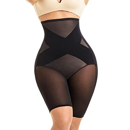 MOVWIN Tummy Control Body Shaper Shorts - High Waist Thigh Slimmer Panties Shapewear Black