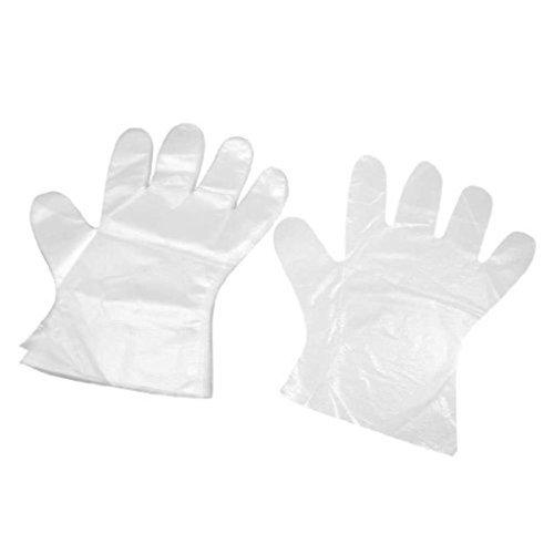 Cpixen Transparent Plastic Gloves 100 Pcs