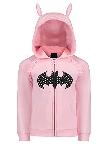 DC Comics Girls Batgirl Fleece Hoodie with 3D Accents Pink 6X