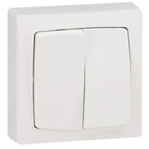 LEGRAND - Va-et-vient + poussoir complet 6 A blanc LEGRAND SAILLIE 086007 - LEG-086007