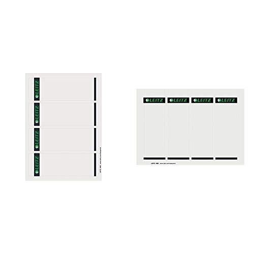 Leitz 16850085 Rückenschild selbstklebend PC, Papier, kurz, breit, 400 Stück, grau & Rückenschilder Breit Pc-Beschriftbar, grau