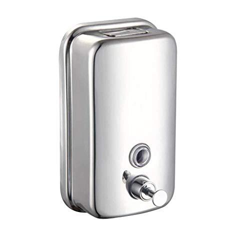 Zihuist Duschgelhalter Seife Shampoo Dispenser Pump Action Wandmontage Edelstahl Seifenspender (Size : 800ML)