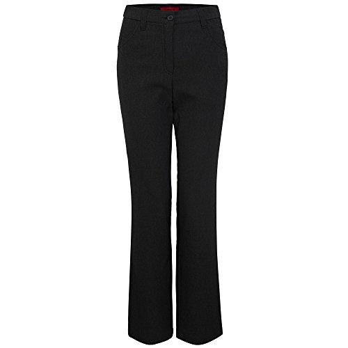 KjBrand Kj Brand 24618-9068 002 Betty Damen Hose Five-Pocket-Form innenangeraut Stretch, Groesse 46K, anthrazit
