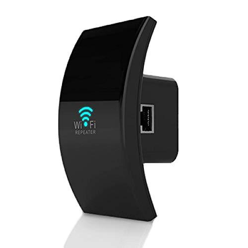 Repetidor inalámbrico WiFi Extensor WiFi 300M WiFi Booster Amplificador Wi-Fi Señal Repetidor Wi-Fi de Largo Alcance Punto de Acceso Repetidor-Negro