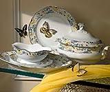 Hutschenreuther Kaffeekanne 6 P. ROS Maria Theresia Papillon