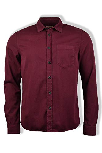 Nudie Jeans Co Henry Pigment Dyed Camicia a maniche lunghe (Fig) Borgogna L