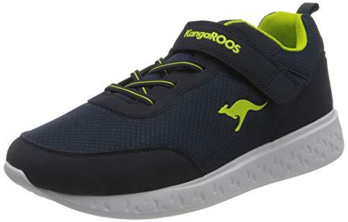KangaROOS K-Act Rik EV Sneaker, Dark Navy/Lime 4054, 34 EU