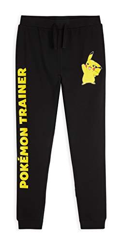 Pokémon Jogginghose Kinder Jungen, Pikachu Trainingshose Kinder 100% Baumwolle, Schwarz Sporthose Jungen Lang 4-14 Jahre, Jogginghose Mädchen und Teenager (Schwarz, 11-12 Jahre)