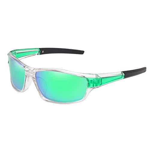 Hellery Ciclismo Gafas Polarizadas Bicicleta Deportes Al Aire Libre Gafas de Sol Anti-UV - Verde claro