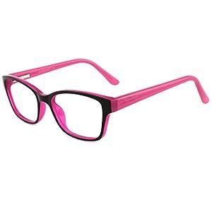 Modesoda Kids Blue light Blocking Glasses,Non-prescription Square Eyeglass Frame For Age 5-12