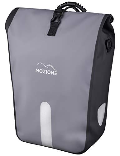 Mozione Gepäckträgertasche mit Tragegriff (24-33L) Hinterradtasche Wasserdicht Grau