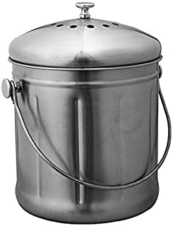 Avanti Stainless Steel Compost Bin, 10 Litre Capacity