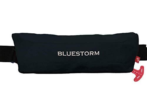 ブルーストーム(Bluestorm) 小型船舶用救命胴衣 タイプA 国土交通省型式承認品 桜マーク 自動膨脹式ライフジャケット[水感知機能] ウエストベルトタイプ 腰巻 レールシステムを採用 コンパクトモデル ブラック BSJ-9320RS