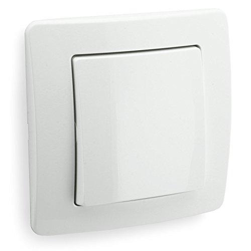 INGÉNIEUR Taster, blanc, 250V 10 A, vers le haut de mur
