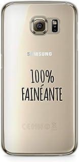 ZOKKO Case for Samsung S6 Edge 100% Soft Transparent with Black Ink