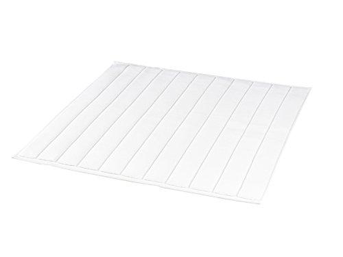 BLANC CERISE Tapis de Bain carré Blanc - Coton peigné 1000 g/m 60 x 60 cm