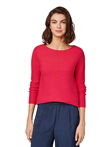 TOM TAILOR Damen Pullover & Strickjacken Pullover mit Strickmuster Dawn pink,XL