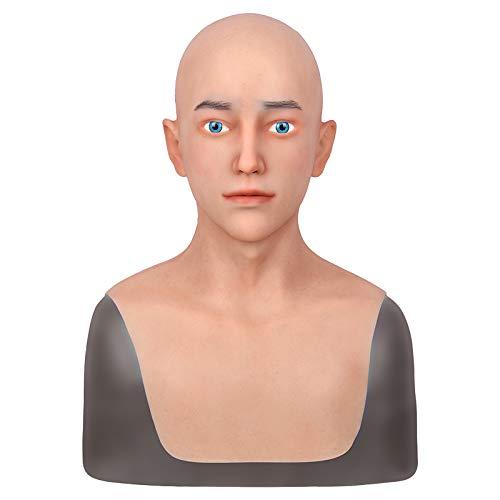 TYX HOME Mannelijke Maskers Siliconen Realistische Volledige Hoofd Maskerade voor Crossdresser Cosplayer Man masker Halloween Kostuum Party