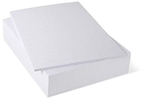 Notizblöcke DIN A4 kariert, 10er Pack, 50 Blatt je Block, 80 g/m² Offset weiß, notizblock24