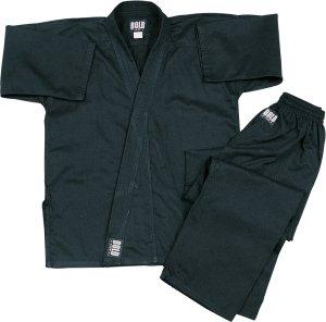 Super Middleweight 8.5 oz Traditional Karate Uniform - Black Size 6