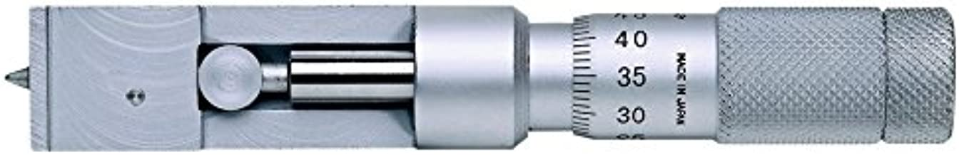 Mitutoyo 147-103 Can Seam Micrometer, Ratchet Stop, 0-13mm Range, 0.01mm Graduation, +/-0.003mm Accuracy, For Steel Cans