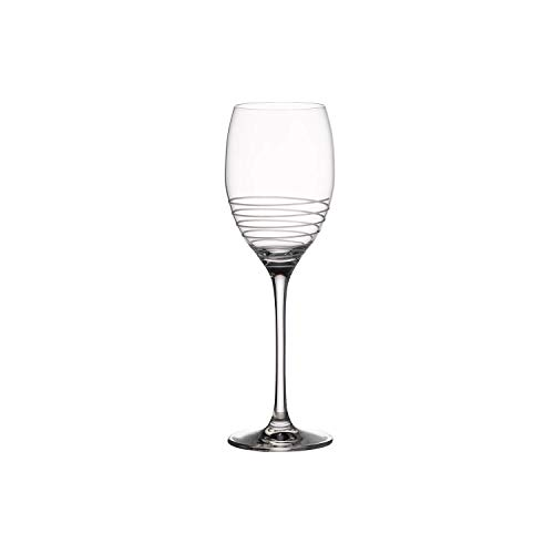 Villeroy & Boch Maxima Decorated Verre à Vin Blanc avec Décoration Spirale, 500 ml, Cristallin