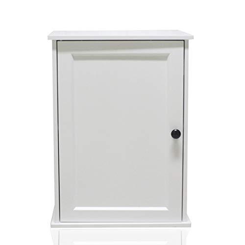 Happy Home Wandschrank Badezimmerschrank Küchenschrank Medizinschrank mit höhenverstellbarer Regalebene Badschrank mit Tür ca:40 x 30 x 55 cm