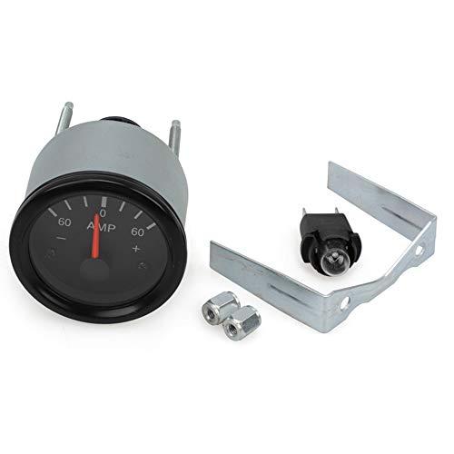 Ctzrzyt Medidor AmperíMetro MecáNico de Cabina de Coche MecáNico de 2 Pulgadas 52 Mm Medidor Medidor de 60-0-60 Amperios 12V Voltios