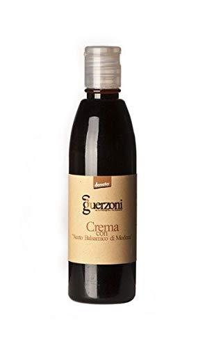 Crema di Balsamico von Guerzoni - Bio Demeter, 250ml, biodynamsche Balsamico Crema und beeindruckende Teller Deko aus original Balsamessig aus Modena.