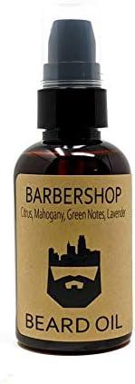 OakCityBeardCo BarberShop 2oz Beard Oil Beard Conditioner Citrus Mahogany Green Notes Lavender product image