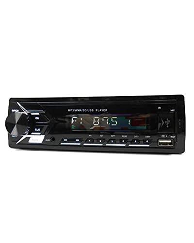 1 DIN Car Radio USB MP3 Dual Bluetooth Manos Libres Estéreo A2DP Carga de música TF Aux Audio Record 7 Colores Unidad Principal de iluminación
