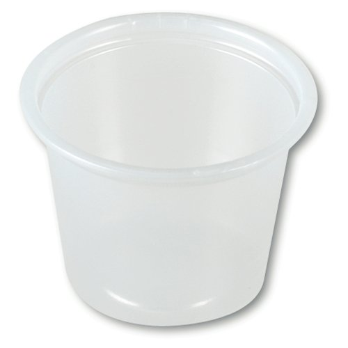 Dart P100N 1 oz Translucent PS Portion Container (Case of 2500)