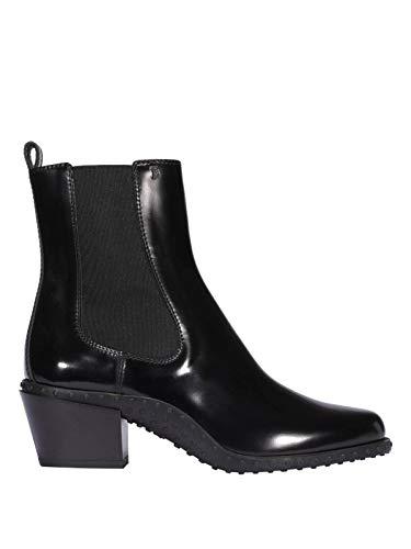 Tod's Luxury Fashion Damen XXW10C0CG90AKTB999 Schwarz Elastan Stiefeletten | Herbst Winter 19