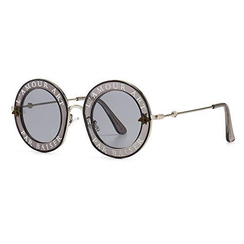 Redondo Gafas de sol para mujeres hombres Gafas de sol de abeja Chic Style Unisex Glasses