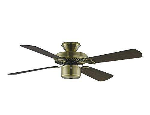 薄型 軽量 大風量 簡易取付 コイズミ アジアン アンティーク調 シーリングファン 【KCF-023】