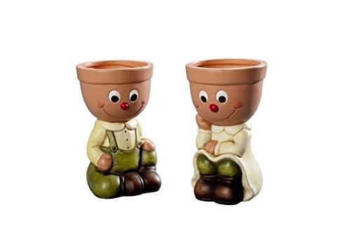 Pot Duo Fred et Sofie Pot de fleurs graines plantes fleurs Lot de 2