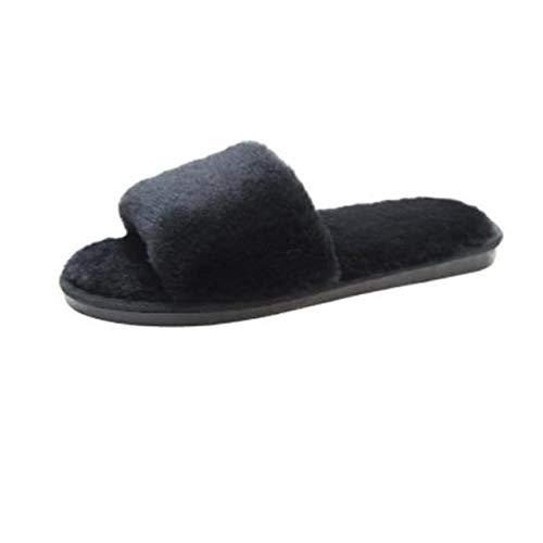 [ジーティアモ] ファー サンダル スリッパ ルーム シューズ ふわふわ あたたかい やわらかい 室内 履き シンプル 可愛い レディース オシャレ おしゃれ お洒落 あったか ふかふか もこもこ なめらか ソール 上品 ぺたんこ フラット らくちん ブラ