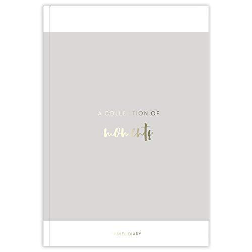 JO & JUDY Reisetagebuch Stadt mit individuellen Fragen - 7 Urlaubstage mit Seiten für Highlights und Notizen - Softcover in Grau mit goldener Prägung - 16,5 x 24 cm